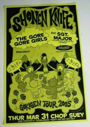 Shonen Knife 2005 Seattle Concert Original Poster The Gore Gore Girls McPherson