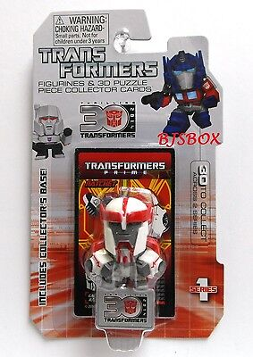 Ratchet #8 Series 1 Transformers Figurine & 3D Puzzle Collector Cards New
