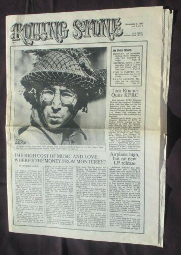 ROLLING STONE MAGAZINE JOHN LENNON ISSUE #1 NOV.9, 1967 (REPRINT 1986) VG COND