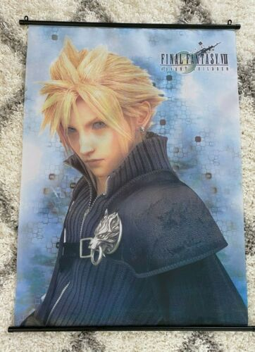 "Final Fantasy VII Advent Children Wall Scroll STRIFE  42""X31"" CLOTH SCROLL"