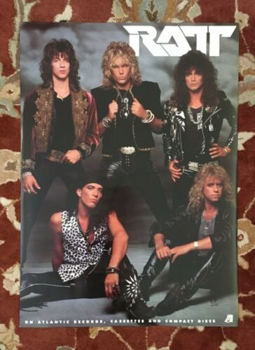 RATT  On Atlantic Records  rare original promotional poster from 1988