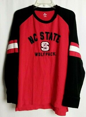 NC State Wolfpack Knights Apparel Long Sleeve Heavy Tee T-Shirt Cotton Size XL - Nc State Apparel