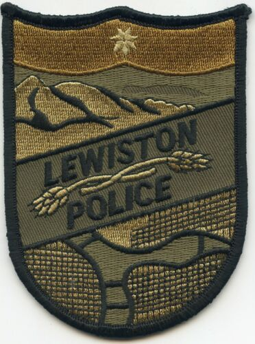 LEWISTON IDAHO ID Subdued Green POLICE PATCH