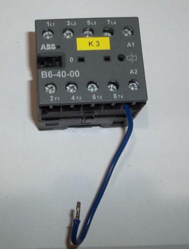 ABB B6-40-00 Control Relay Contactor 12A 300VAC IEC/EN 60947-4-1