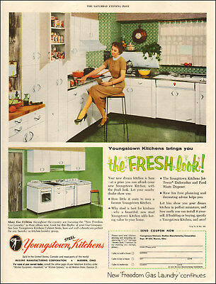 1955 vintage appliance AD YOUNGTOWN KITCHEN . very '50's' style  060618