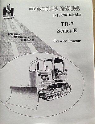 Dresser Td7e Operator Maintenance Manual International Ih Crawler Dozer