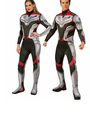 Team Suit Avengers Endgame Marvel Fancy Dress Up Halloween Deluxe Adult Costume