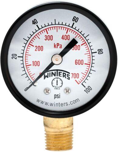 Winters PEM Series Steel Dual Scale Economical All Purpose Pressure Gauge