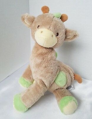 "Prestige Baby Giraffe Plush Stuffed Animal Rattle Toy Tan Green 9"" for sale  Shipping to Canada"