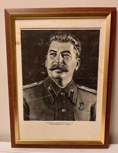 1935 Vintage picture of Joseph Stalin. before WWII Soviet USSR. Original print