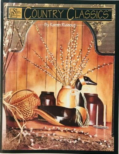 Country Classics by Karen Rideout Decorative Tole Painting Pattern Book 1997
