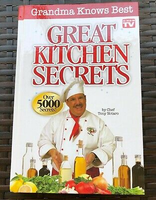 As Seen On TV  Grandma Knows Best Great Kitchen Secrets Book  Chef Tony