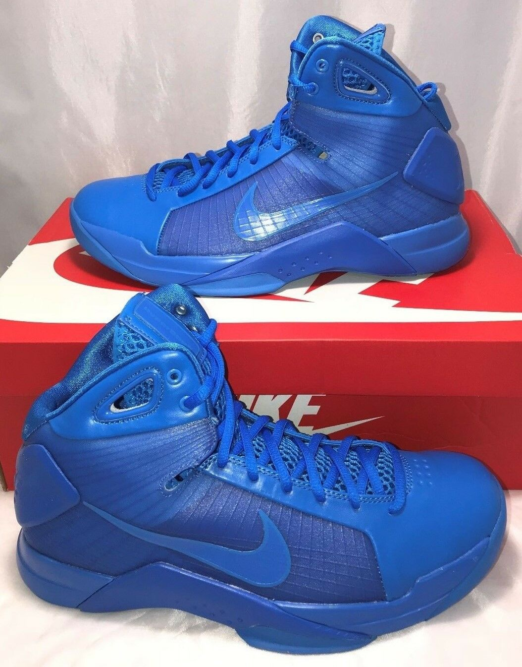 Nike Mens Size 9.5 Hyperdunk 08 Basketball Shoes Photo Blue Olympics Rare