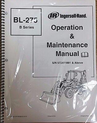 Bobcat Bl275 Backhoe Loader Operation Maintenance Manual Owners 2 6902655