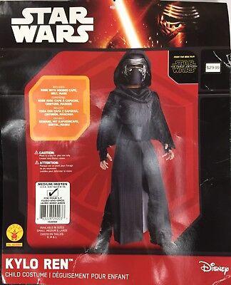 Kylo Ren Star Wars Costume Child Kids Sz M Medium 8-10 Halloween Dress Up Movie (Movie Stars Dress Up)