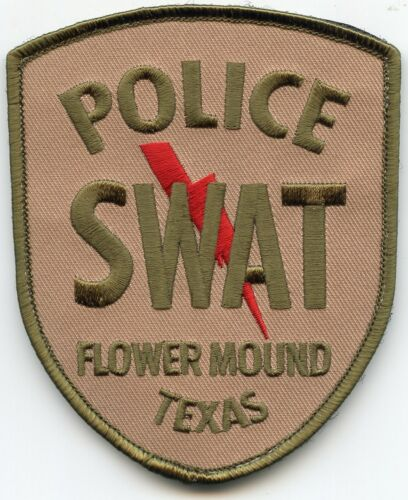 FLOWER MOUND TEXAS TX see the back of this patch SWAT POLICE PATCH