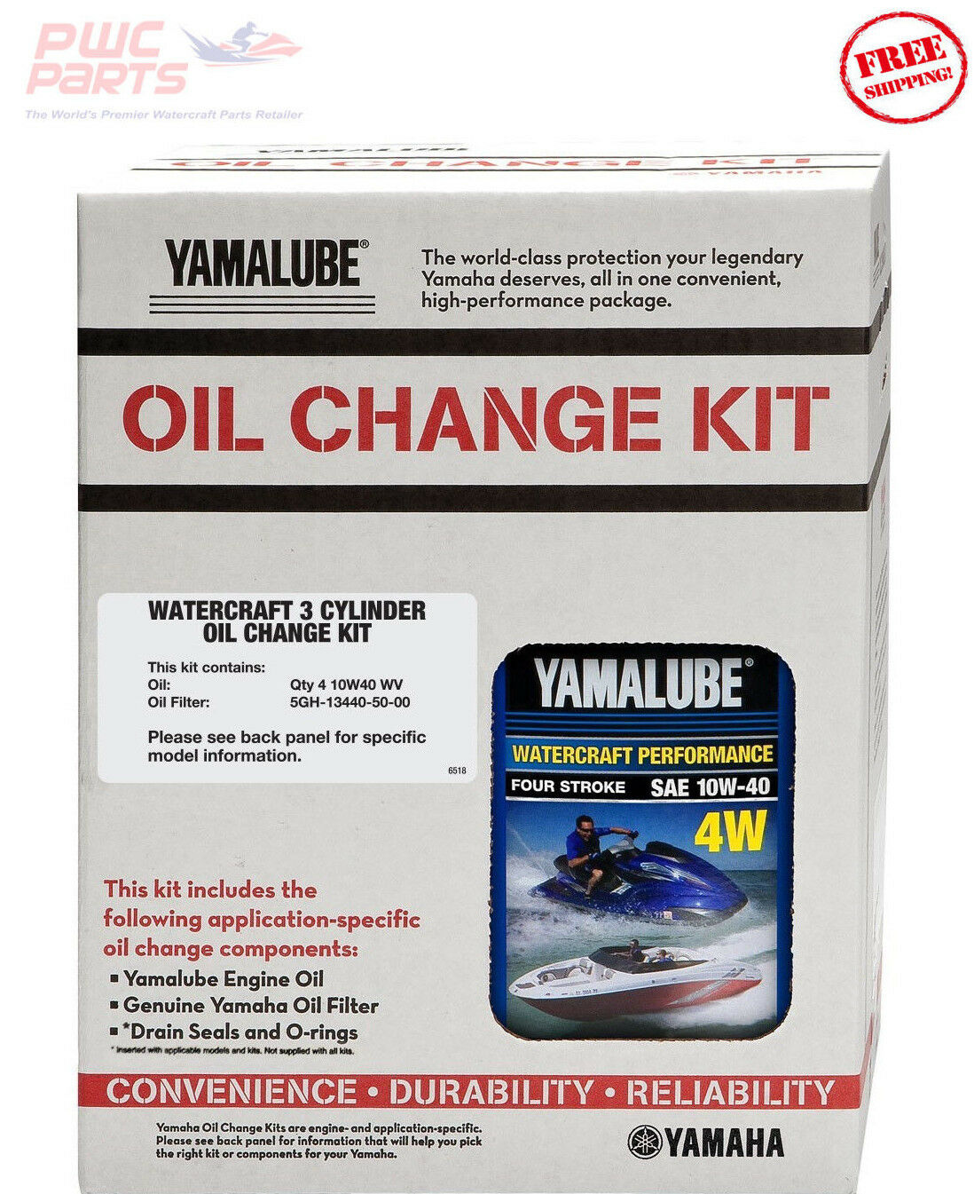 YAMAHA 2016 V1 / V1 Sport TR-1 Oil Change Kit LUB-3WTRC-KT-20 w/ 5GH-1344 Filter