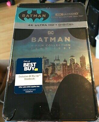 Batman 4 Film Collection 4K + Digital HD Steelbook Set Returns Forever Robin comprar usado  Enviando para Brazil