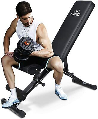 FLYBIRD Adjustable Utility Weight Bench Ful Body Workout Gym Fold 2020 Model New