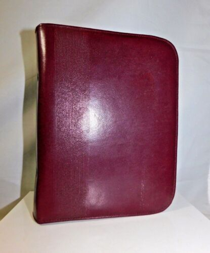 Vintage Lilian Vernon Zip Leather Journal Book Diary Cover