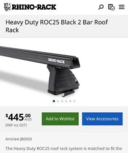 Ford Ranger Rhino Rack HD Roof Racks (Suit PX, PX2, PX3)