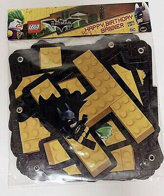 Lego Batman Birthday Party Supplies (Lego Batman Movie Birthday Banner Decorations Party Supplies Batman &)