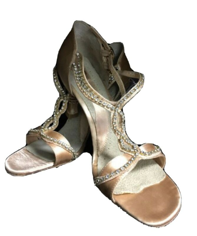 NEW Capezio Gianna BR35 Balloons Dance Shoes Champagne Satin Size 10