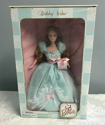 Birthday Wishes Barbie Collectible Second In Series  Mattel 1999