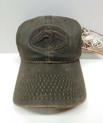Brown Waxed Duck Dynasty Commander Hat Ball Cap Fast Shipping!