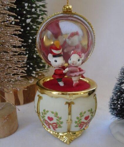 Nutcracker Miniature Mice in Christmas Faux Trinket Box M Gilmore Designs 1994