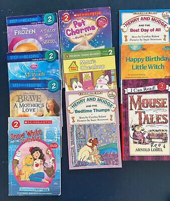 GIRL Lot x10 Step into Reading I Can Read Level 2 Book Easy Disney