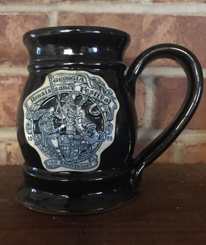 Georgia Renaissance Festival Fair 1995 10th Anniversary Mug/Cup stoneware