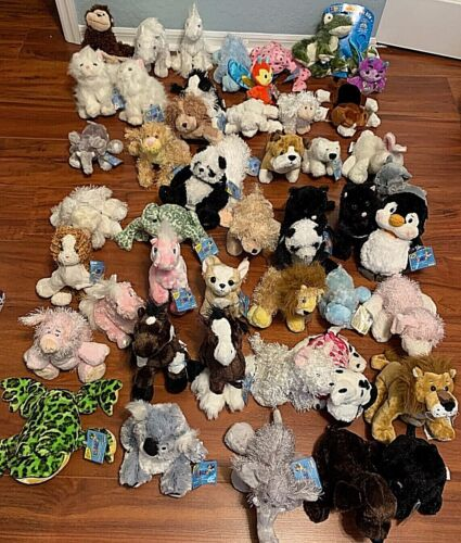 WEBKINZ Lot of 3 Random Plush w Every Purchase USED CODES Possible Rare Plushes!