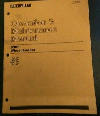 Caterpillar Cat 938f Wheel Loader Operation Maintenance Manual Oem Sebu6631