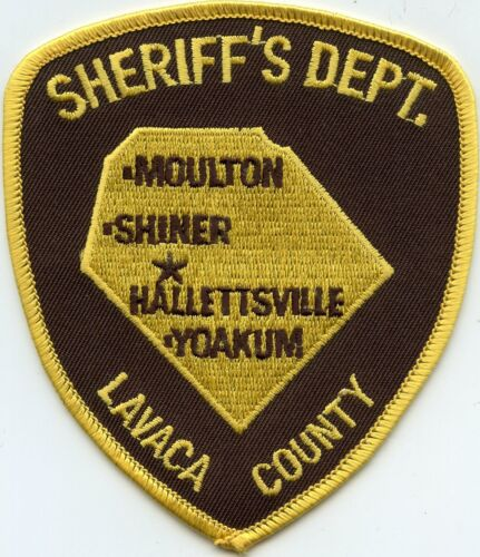 old vintage LAVACA COUNTY TEXAS TX SHERIFF POLICE PATCH