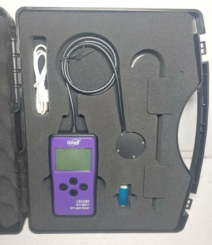 LS126C UV Light Meter UVC Radiometer UV Power Meters w/ Bluetooth 0-20000 μW/cm2