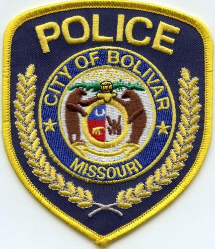 BOLIVAR MISSOURI MO POLICE PATCH