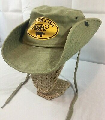 Vintage ABERCROMBIE & KENT Beige Brown 100% Cotton Canvas Safari Bush Hat M-L