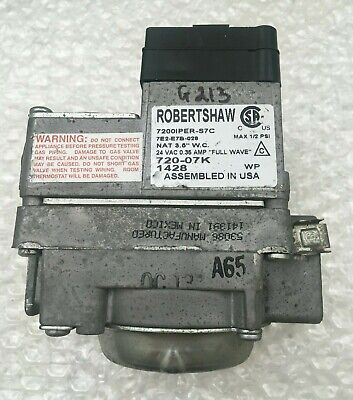 Robertshaw 7200iper-s7c 7e2-e7b-029 Furnace Gas Valve Used Free Shipping G213