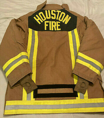 Houston Fire Firefighter 42x34 Janesville Lion Apparel Isodri Turnout Coat 2004