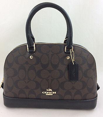 New Coach F58295 mini Sierra Signature Satchel Shoulder Bag Handbag Purse Brown