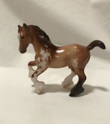 Breyer Stablemates CM Custom Etched Glossy Clydesdale