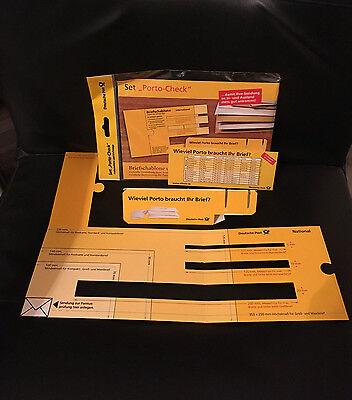 Porto Check Set Schablone Waage Brief Deutsche Post AG Frankierhilfe Pappe