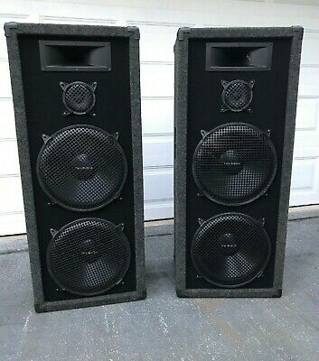 Welton USA Pro Studio Speakers PS32SH 150 RMS DJ Style Excellent Cond TESTED Dj Style Speakers