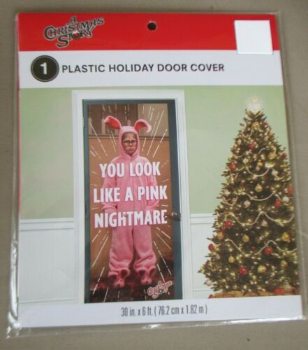 BRAND New A CHRISTMAS STORY DOOR COVER Movie Holiday decoration film SEALED