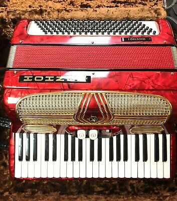 HOHNER MAESTRO I ACCORDION  W/ CASE & straps  MADE IN GERMANY