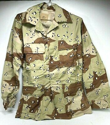 6 color Chocolate Chip Original Bdu Shirt Small Long Experimental Hook and Loop