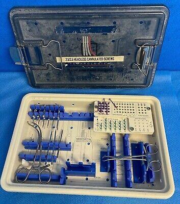 Stryker Memometal 17113 Headless Cannulated Handfoot Instrument Set Orthopedic