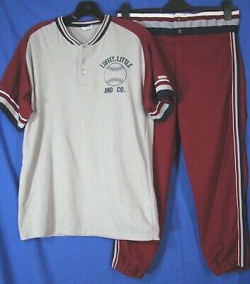 1465 Triple Play Baseball//softball Pant WHITE//MAROON L