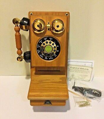 Retro Vintage Telephone Wall Mount Phone American Heritage Antique Wood Decor